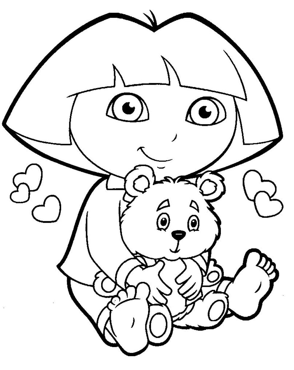 Coloriage Dora